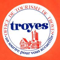 Autocollant Office De Tourisme De Troyes - Stickers