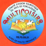 Autocollant Région - Comité D'essor Touristique Du Pays De Forcalquier Multiloisirs - Stickers