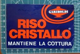 Gariboldi Riso Cristallo  ADESIVO STICKER VINTAGE NEW ORIGINAL - Stickers