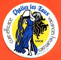 Autocollant Challes Les Eaux - Cures éfficace - Vacances Heureuses - Stickers