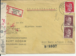 Censored Cover From Germany (Naumburg) Registered. 1943 - Storia Postale