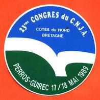 Autocollant 23éme Congrés Du C.N.J.A à Perros Guirec 17/18 Mai 1989 - Stickers