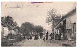 60 - ARVILLERS  Rue Tourniche - Carte Animée - Circulé - Dos Divisé - Correspondance Militaire - Sonstige Gemeinden