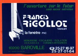 Autocollant Menuiserie , Fenetres PVC Françis Rigollot à Baroville Aube - Stickers