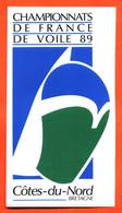 Autocollant Championnats De France De Voile 89 Cotes Du Nord - Stickers