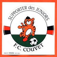Autocollant Supporter Des Juniors FC Couvet - Suisse - Chat - Football - Stickers