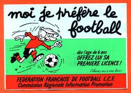 Autocollant Moi Je Prefère Le Football - Fédération Française De Football - Stickers