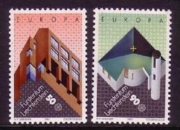 LIECHTENSTEIN MI-NR. 916-917 POSTFRISCH(MINT) EUROPA 1987 MODERNE ARCHITEKTUR PFARRKIRCHE SCHELLENBERG - 1987