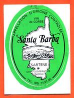 Autocollant Santa Barba Coopérative Vinicole à Sartene Corse - Stickers