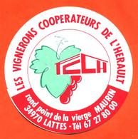 Autocollant Les Vignerons Coopérateurs De L'herault à 34970 Lattes - Stickers