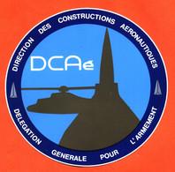 Autocollant DCAé Direction Des Constructions Aéronotiques - Hélicoptère - Mirage - Rafale - Stickers