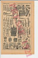 1921 Instrument De Musique Harpe Lyre Vielle Grand Orgue Harmonium Percussions Cuivres Saxophone Cornemuse 78CHV - Unclassified