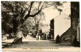 NANT - Place Du Claux Et Rue De La Poste - Voir Scan - Altri Comuni