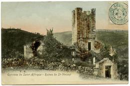 Environs De Saint-Affrique - Ruines De Saint-Vincent - Carte Colorisée - Voir Scan - Saint Affrique