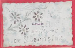 33 - SAINT SEURIN SUR L'ISLE---Un Baiser De ...carte Celluloide - Other Municipalities