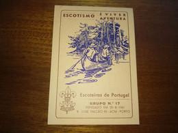 """Calendar Of Pocket """" CNE Corpo Nacional De Escutas - Porto """"  1989 - Small : 1981-90"""