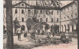 CPA (81) ALBI N° 70 Collège De Jeunes Filles Hôpital Temporaire N° 54 Cour Intérieure Soldat Militaire Militaria 2 Scans - Albi