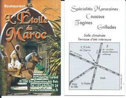Carte De Visite  Restaurant - L'ETOILE DU MAROC - Other