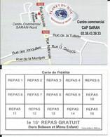 Carte De Visite  Restaurant - PLANET DU WOK - 45770 SARAN - Other