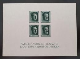 Deutsches Reich 1937, Block 8 MH(ungebraucht) - Blocchi