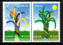 GRIECHENLAND MI-NrR 2364-2365 A POSTFRISCH(MINT) EUROPA 2006 INTEGRATION - 2006