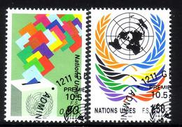 UNO GENF MI-NR. 200-201 GESTEMPELT(USED) FREIMARKEN UNO EMBLEM 1991 - Gebraucht