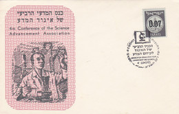 4th CONFERENCE OF THE SCIENCE ADVANCEMENT ASSOCIATION, SCIENCES CIENCIA. ISRAEL SPC ENVELOPPE, 2.4.1961.- LILHU - Unclassified