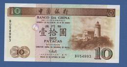 MACAO - MACAU - P.90 – 10 Patacas 16.10.1995 UNC Serie BU 54993 - Macau