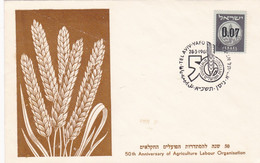 50th ANNIVERSARY OF AGRICULTURE LABOUR ORGANISATION. ISRAEL SPC ENVELOPPE, 28.3.1961 TEL AVIV.- LILHU - Agriculture