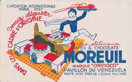 BUVARD(CHOCOLAT)MOREUIL(EXPOSITION INTERNATIONALE PARIS 1937) - Cocoa & Chocolat