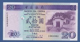 MACAO - MACAU - P.91 – 20 Patacas 01.09.1996 UNC Serie CX 82082 - Macau