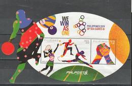 Filippine Philippines Philippinen Pilipinas 2019 Southeast Asian Games (SEAGames) - Souvenir Sheet - USED - Filippijnen