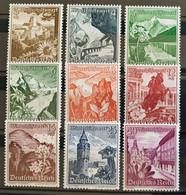 Deutsches Reich 1938, Winterhilfe Mi 675-83 MH(ungebraucht) - Unused Stamps