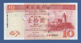 MACAO - MACAU - P.102 – 10 Patacas 08.12.2003 UNC Serie FW43167 - Macau