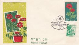 FLOWERS FESTIVAL, FETE DES FLEURS, FIESTA DE LAS FLORES. ISRAEL SPC ENVELOPPE 13.8.1960 HAIFA.- LILHU - Other