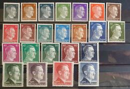 """Deutsches Reich 1941, Mi 781-802 """"Hitler"""" MNH(postfrisch) - Nuovi"""