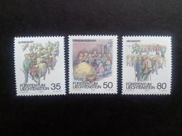 LIECHTENSTEIN MI-NR. 971-973 POSTFRISCH HERBSTBRÄUCHE 1989 - Nuovi