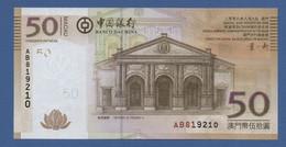 MACAO - MACAU - P.110a – 50 Patacas 08.08.2008 UNC Serie AB819210 - Macau