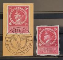 """Deutsches Reich 1944, """"Adolf Hitler"""" Mi 887 Briefstück WIEN Sonderstempel + MNH(postfrisch) - Usati"""