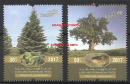 JORDAN JORDANIE 2017 TREES JOINT ISSUE EUROMED POSTAL EURO MED LEBANON CYPRUS MALTA GREECE CYPRUS SPAIN CROATIA - Jordanie