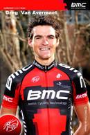 CARTE CYCLISME GREG VAN AVERMAET TEAM BMC 2011 ( SERIE BUSTE ) - Cycling
