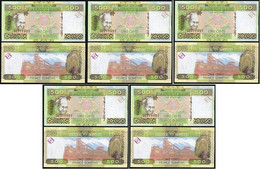 Guinea - 5 Pcs X 500 Francs 2006 UNC P. 39a Lemberg-Zp - Guinea