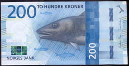 Norway 200 Kroner 2016 UNC P- 55 - Norvège