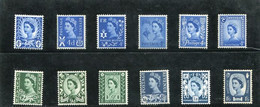GREAT BRITAIN - 1966  REGIONAL  PHOSPHOR SET   MINT NH - Unused Stamps