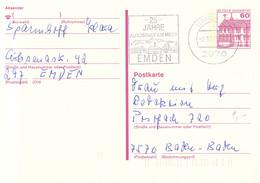 Germany Postal Stationary Bauwerke Posted Emden 1989 25 Jahre Autostadt Am Meer  (DD21-56) - Cartoline - Usati