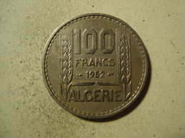 MONNAIE ALGERIE 100 FRANCS TURIN 1952 - Algeria
