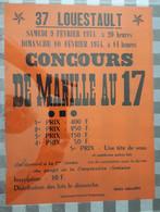 D37. LOUESTAULT. 9/10 FEVIER 1974 CONCOURS DE MANILLE - Affiches