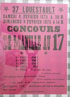 D37. LOUESTAULT. 8/9 FEVIER 1975 CONCOURS DE MANILLE AU 17. - Affiches
