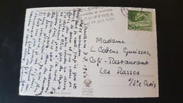 Lausanne - Sent To Les Rasses - Used Stamps