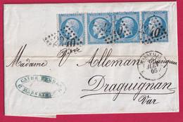 N°22 X4 DONT 2 VARIETE PETIT TIMBRE GC 2240 MARSEILLE 2 12 2 POUR DRAGUIGNAN VAR - 1849-1876: Classic Period